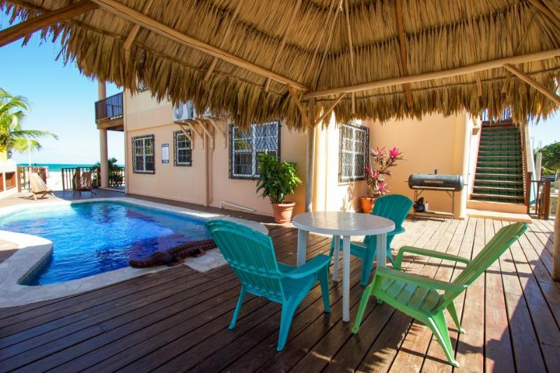 Oceanfront, oceanview, pool access in beautiful Placencia! - Image 1 - Placencia - rentals