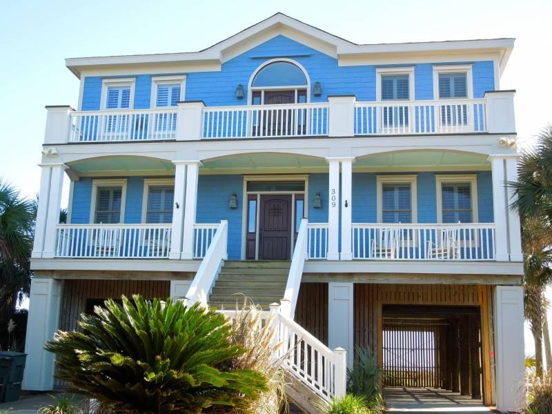 Street Side of Home - 5 O'clock Somewhere - Folly Beach, SC - 5 Beds - 4 Baths - Blue Mountain Beach - rentals