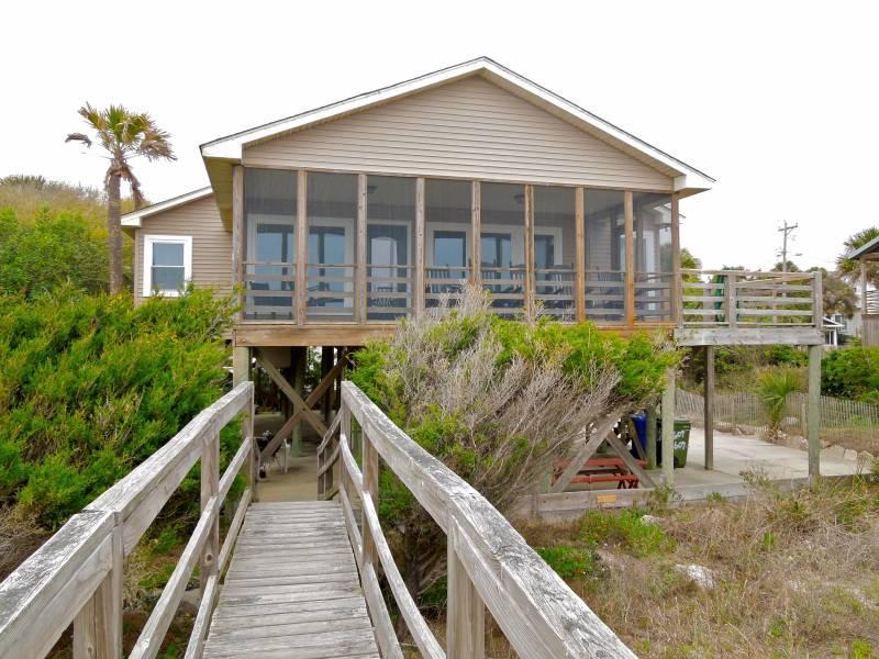 Oceanfront Exterior - Back Home - Folly Beach, SC - 3 Beds - 2 Baths - Blue Mountain Beach - rentals