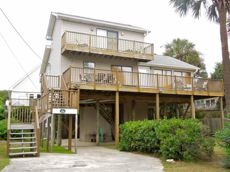 Exterior - Compass Rose II - Folly Beach, SC - 3 Beds - 2 Baths - Blue Mountain Beach - rentals