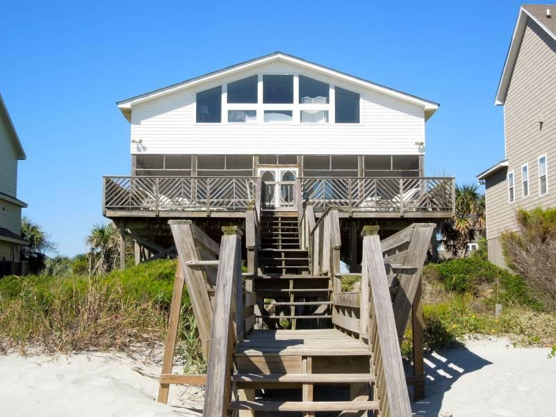 Exterior - Editor's View - Folly Beach, SC - 3 Beds BATHS: 2 Full - Folly Beach - rentals