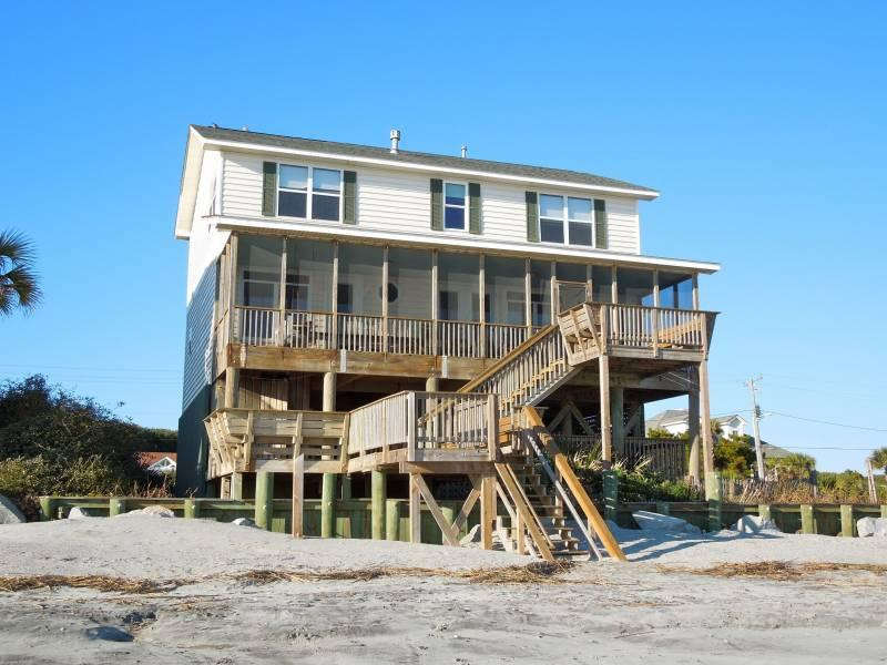 Exterior - Folly 'B' Golly - Folly Beach, SC - 5 Beds - 4 Baths - Blue Mountain Beach - rentals