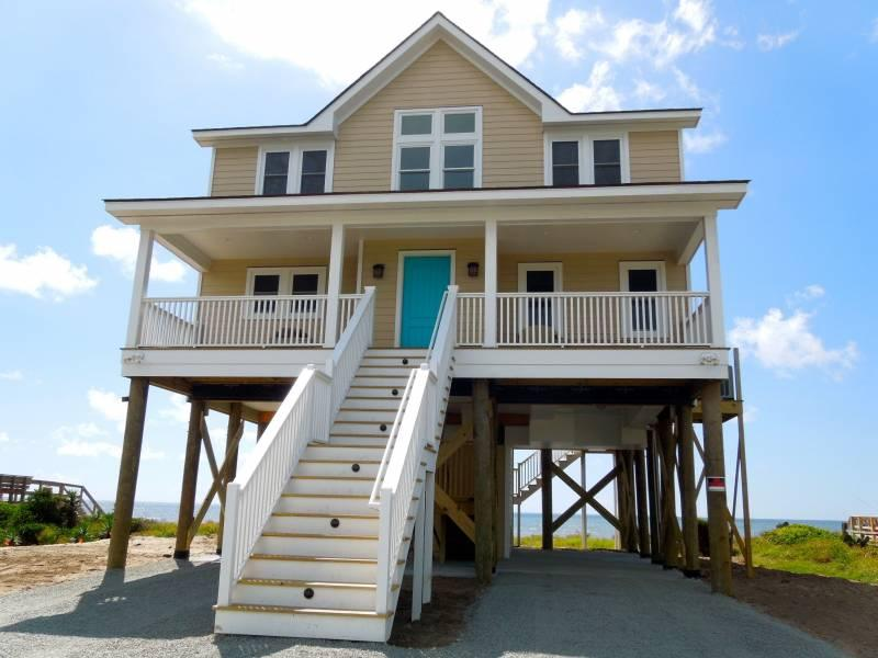 Street Side of Home - Nouveau Beach - Folly Beach, SC - 3 Beds BATHS: 2 Full 1 Half - Folly Beach - rentals