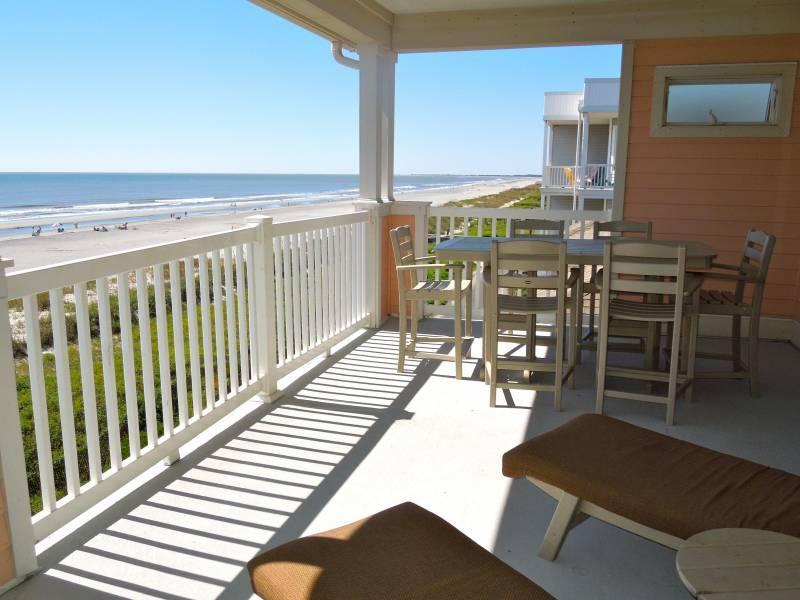 Oceanfront Balcony - Ocean Pointe Villa 302 - Folly Beach, SC - 3 Beds BATHS: 3 Full - Folly Beach - rentals