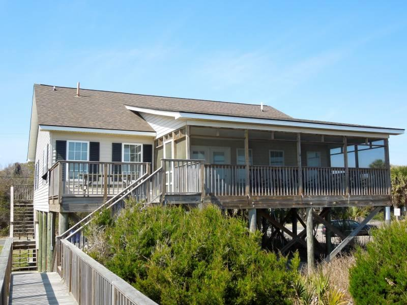 Ocean Side of Home - Pier Delight - Folly Beach, SC - 4 Beds - 3 Baths - Blue Mountain Beach - rentals