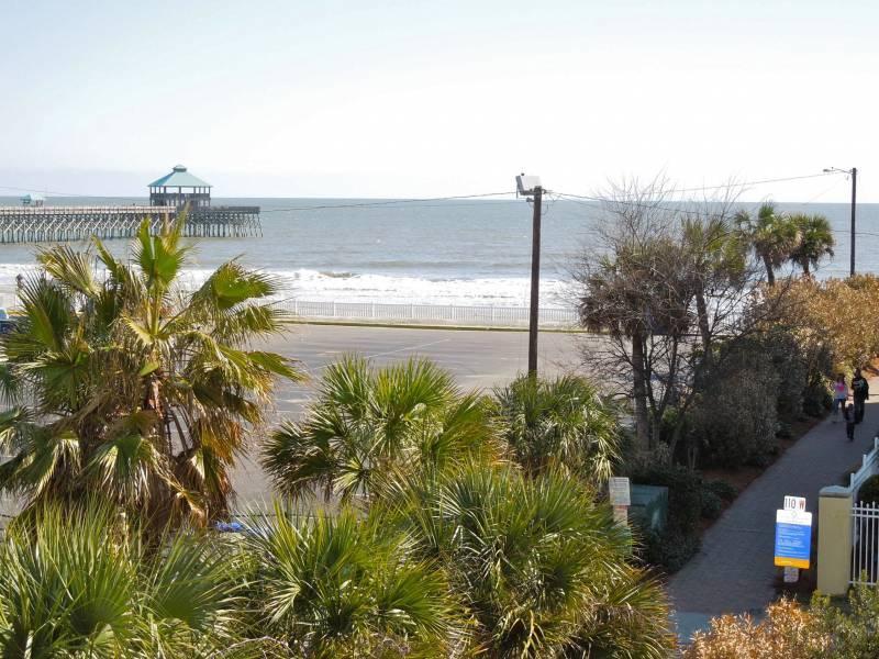 View of Ocean from Master Covered Porch - Pier Pointe Villas C102 - Folly Beach, SC - 3 Beds BATHS: 3 Full - Folly Beach - rentals