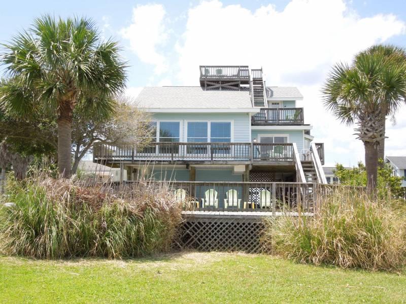 View from Ocean Side of House - Sea Y'all - Folly Beach, SC - 5 Beds BATHS: 3 Full 1 Half - Folly Beach - rentals