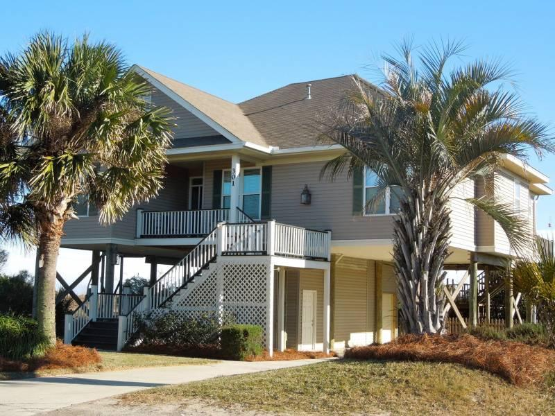 The Beach House - Street Side - The Beach House - Folly Beach, SC - 4 Beds BATHS: 3 Full - Folly Beach - rentals