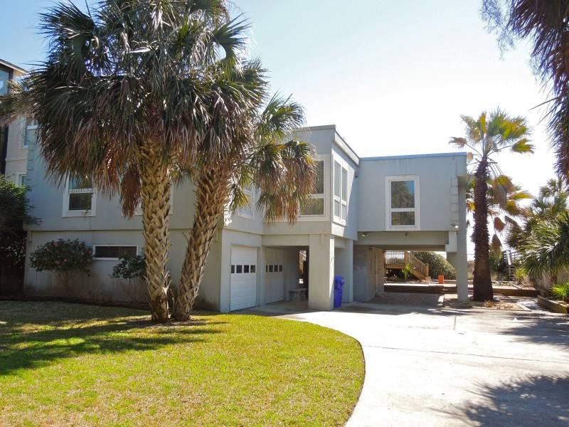 Street Side of Home - The Sanctuary - Folly Beach, SC - 3 Beds - 2 Baths - Blue Mountain Beach - rentals