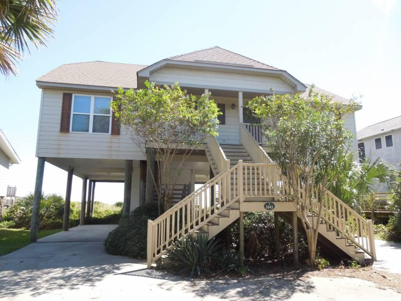 Streetside Exterior - The Tides at Folly Beach - Folly Beach, SC - 4 Beds BATHS: 2 Full - Folly Beach - rentals