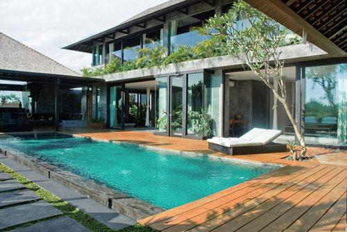 Villa and Pool view - Sirocco, Luxury 4 Bedroom Villa, Canggu - Canggu - rentals