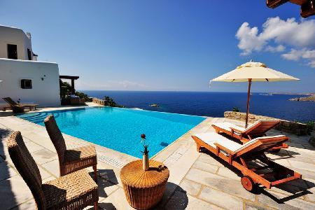 Sophisticated Selene with scenic sea views, elegant terrace & infinity pool - Image 1 - Tourlos - rentals