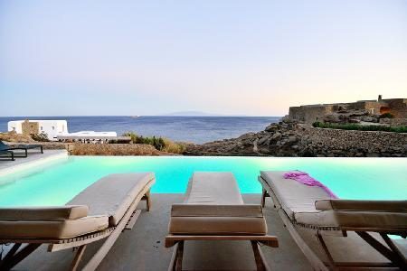 Modern White Rock Two with memorable sea views, tranquil infinity pool, near beach - Image 1 - Mykonos - rentals