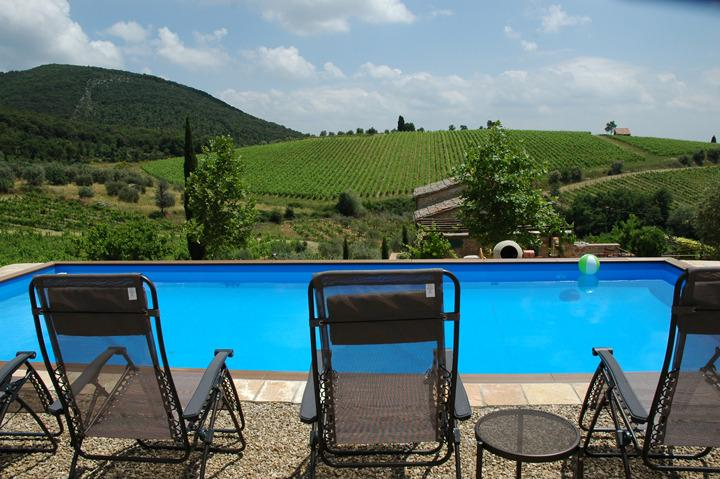 Large pool overlooking the estate - Gated Luxury Estate ~ Prime Chianti Classico! - Siena - rentals