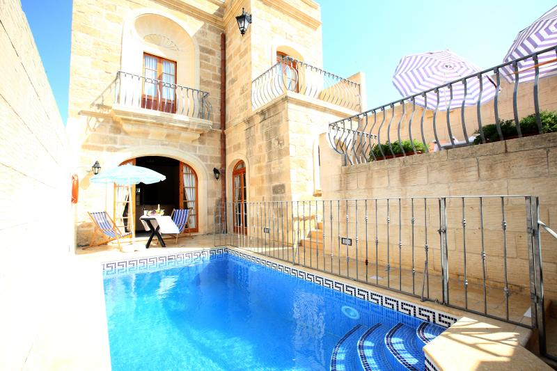 Railings near the pool safety for children - 4 Bedroom Farmhouse with Private Pool, A/C, WIFI - Sanat - rentals