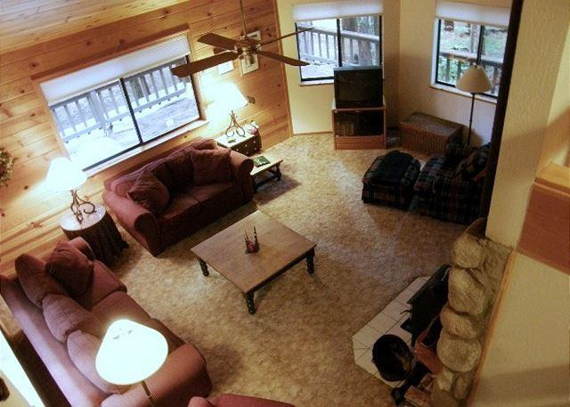 Aerial view of living room - Come Rest Awhile! - Dorrington - rentals