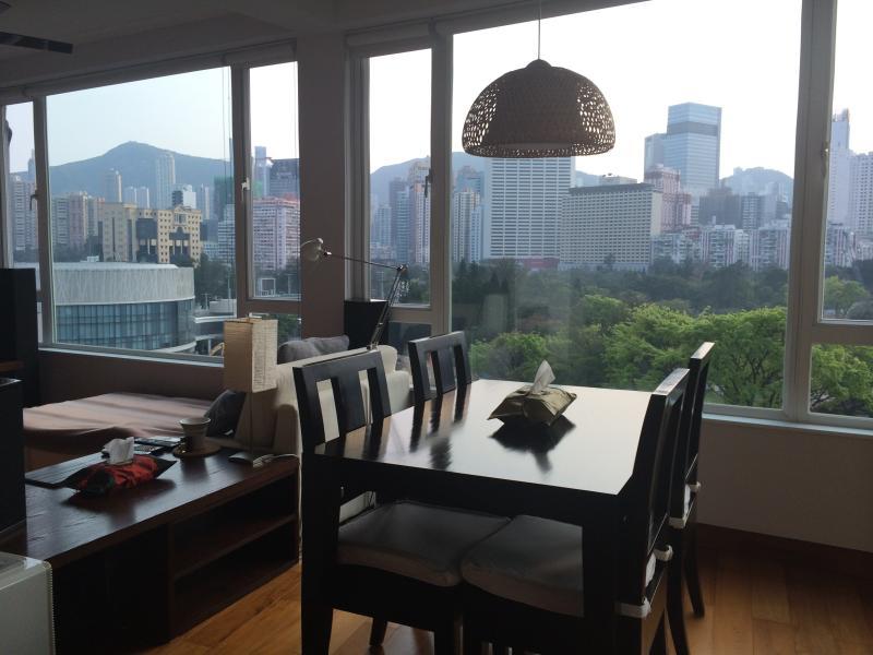 View from living room - Amazing Sea and City View Apartment in Hong Kong - Hong Kong - rentals