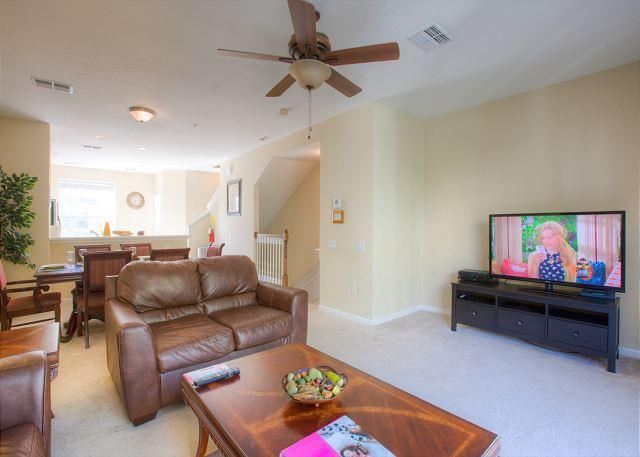 Living Room - Nice Furnished Vista Cay 3BD/3.5BA TownHome - Orlando - rentals
