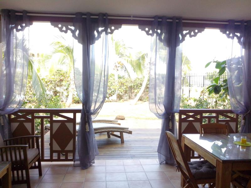 Terrace & Deck - Salt Beach - Beachfront, Sea View and pool - Orient Bay - rentals