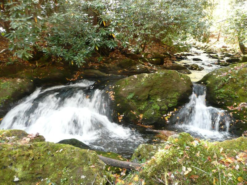 Waterfall at Rushing Waters cabin - Rushing Waters Cabin-Romantic Waterfall Cabin - Gatlinburg - rentals