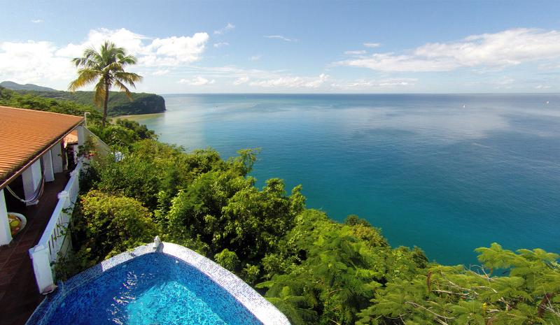 With one of the most impressive views in St. Lucia.. - Emerald Hill Villa - 270° View of the Bay & Ocean - Marigot Bay - rentals