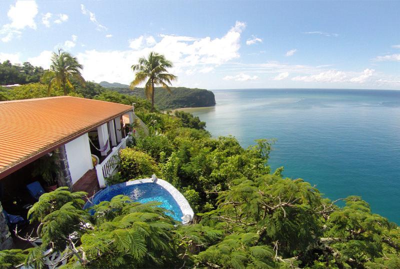 Welcome to the Emerald Hill Villa.. - Emerald Hill Villa - 270° View of the Bay & Ocean - Marigot Bay - rentals
