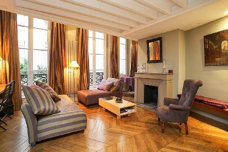 Mr Le Prince - Classy Paris Apartment with Fireplace and Courtyard View - Image 1 - 6th Arrondissement Luxembourg - rentals