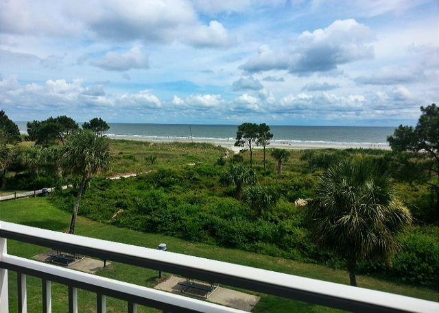 View from Deck - 309 Ocean Dunes Villa Ocean Front Beach Views - Hilton Head - rentals