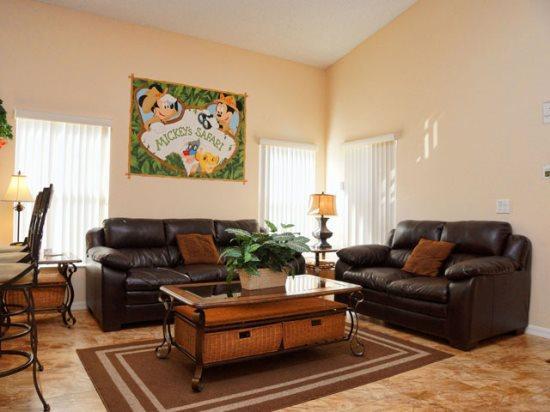 Living Area - HL5P451LD Luxurious 5 BR Holiday Home Just Near Walt Disney - Orlando - rentals