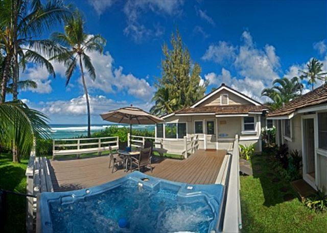 Bright and Happy 4 bedroom, directly oceanfront with hot tub and sunset views - Image 1 - Haleiwa - rentals