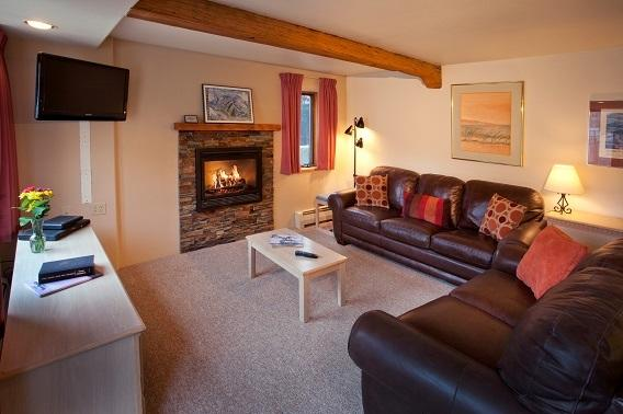 Deluxe Unit Living Room - Taos Ski Valley 1 Bedroom Condo - Sleeps 4-6 - Taos Ski Valley - rentals