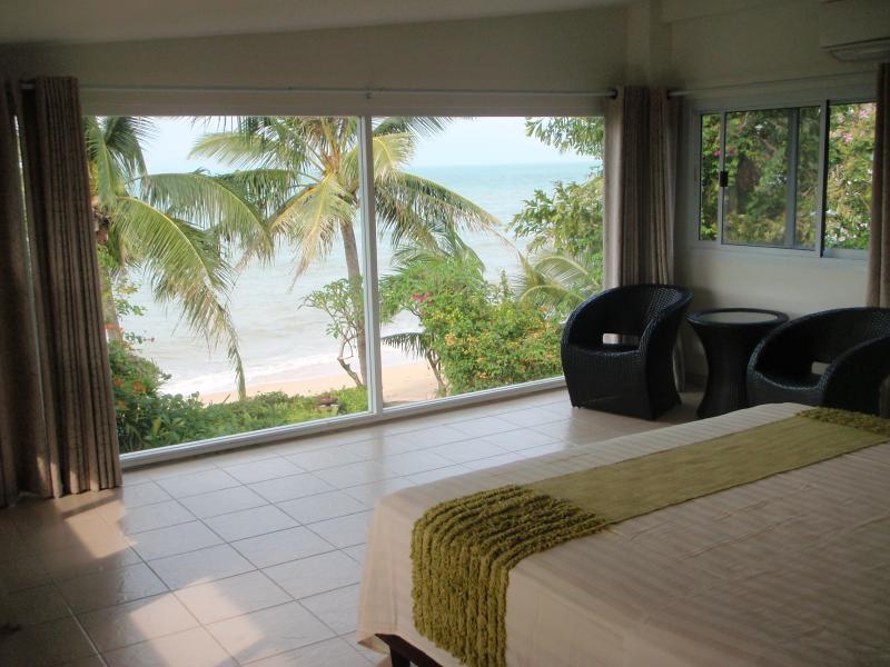 upstairs Master Bedroom View of the Beach - frontShambala Beach  Villa - Koh Samui - rentals