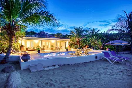 Romantic Villa Les Palmiers right on the Beach - the Perfect Island Getaway! - Image 1 - Saint Martin-Sint Maarten - rentals