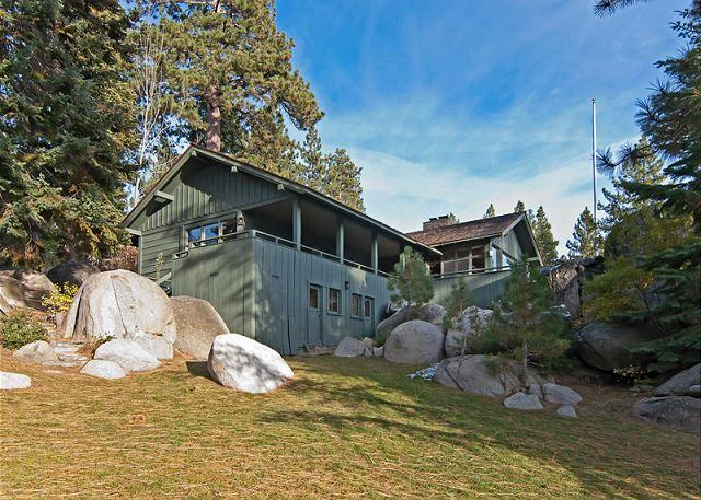 Rear Exterior - Sky Rocks Lakeside Home - Private Beach, Pier, and Buoys. Brockway HOA too! - Kings Beach - rentals