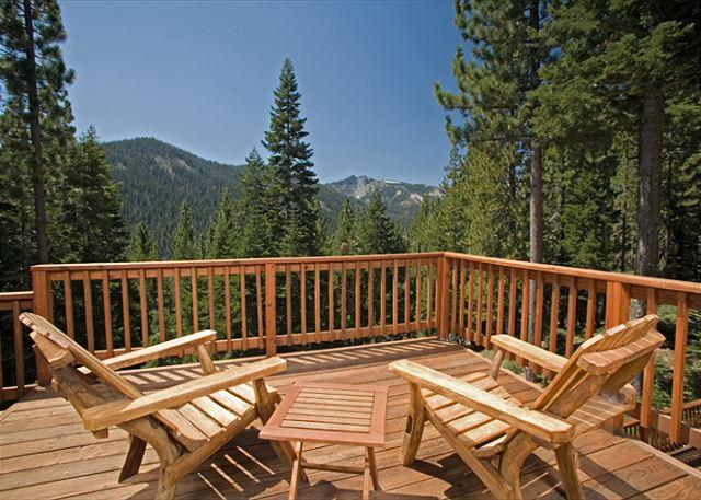 Back Deck - Twin Peaks - Awesome Mountain Views from this Large 5 BR Home with Hot Tub - Tahoe City - rentals