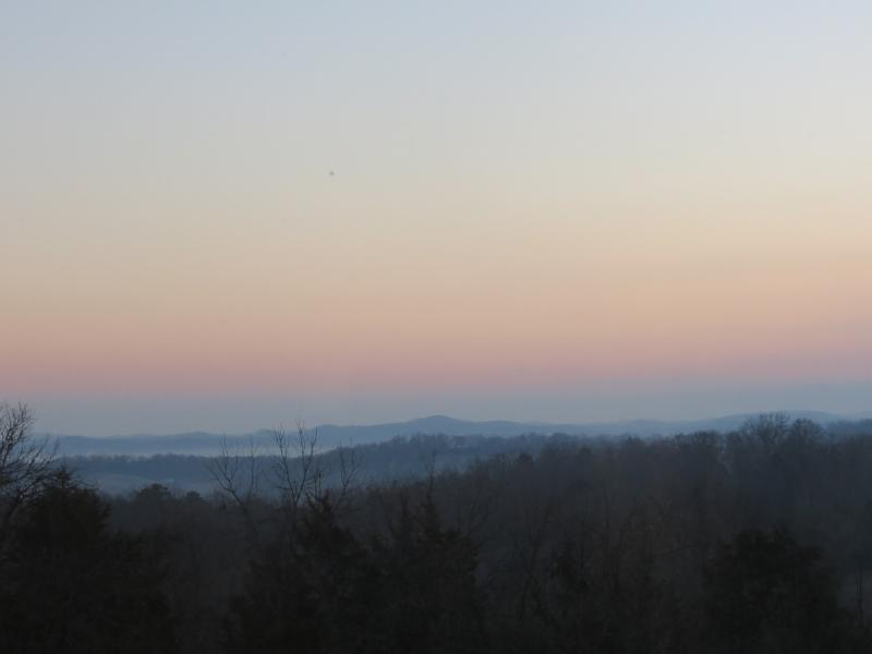 sunrise from the glassed in sunroom - 3 LEVELS OF FUN AND GLASSED IN PORCH W/VIEW! - Sevierville - rentals