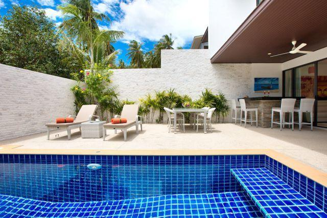 Private outdoor terrace and swimming pool - Pretty home with tropical comfort - Choeng Mon - rentals