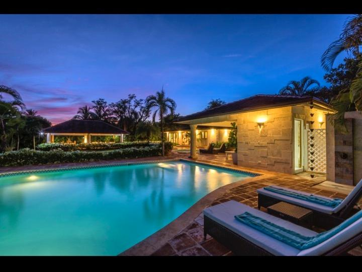 Pool and backyard patio - Walk to the Beach ! Casa de Campo NEW 5BR VILLA - La Romana - rentals
