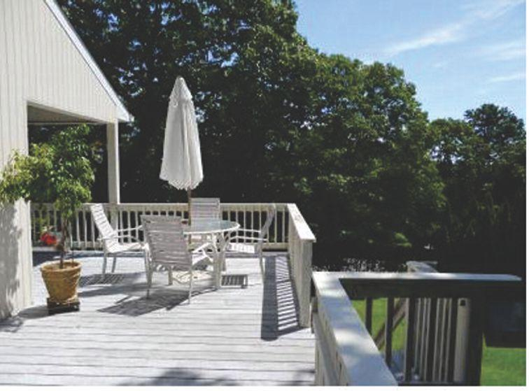 View from the deck with gas barbque - Great Rates in 2015-Most Holiday Weeks No Increase - Hampton Bays - rentals