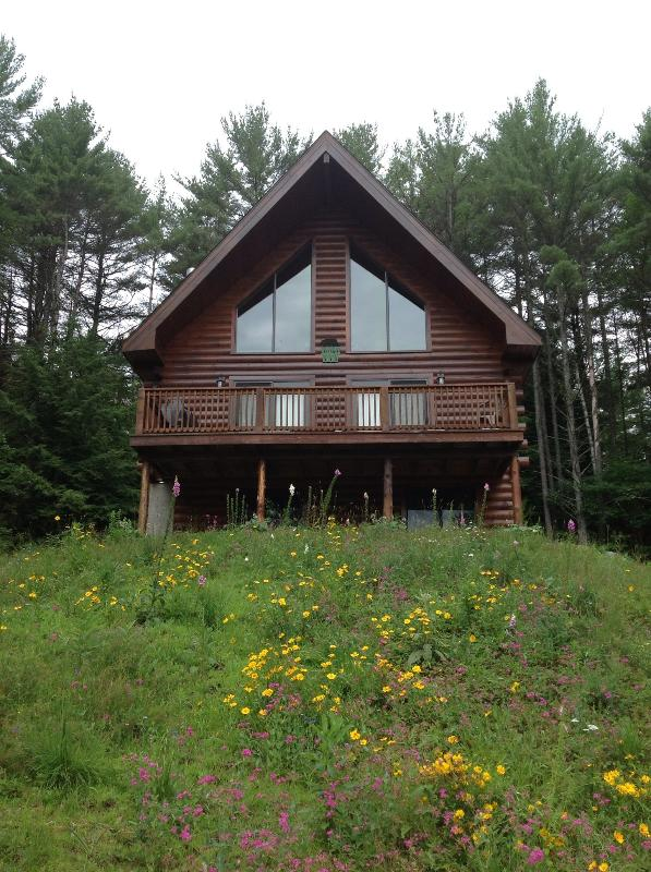 Green Chalet at Tripp Lake - a Lincoln Log home built in 2008 - Green Chalet at Tripp Lake - Warrensburg - rentals