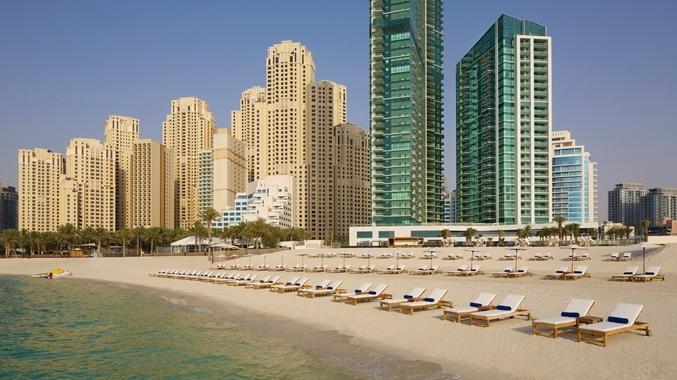 Jumeirah Beach! Al Bateen Residences tower to the left Hilton Hotel on the right - *Oceanfront 5*, 4 BR,  Apt, Sea Views , JBR Walk - Dubai - rentals