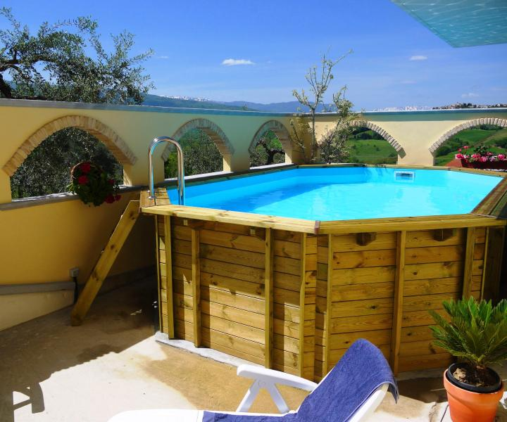 Pool in courtyard with stunning views - 2 Bed Villa Apt Near Beach & Skiing With Pool - Bucchianico - rentals