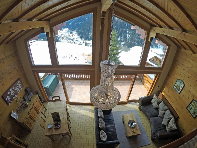 Idyllic mountain views from the lounge/dining room - Chalet Lac de Vonnes - Catered with Hot Tub & Wifi - Chatel - rentals