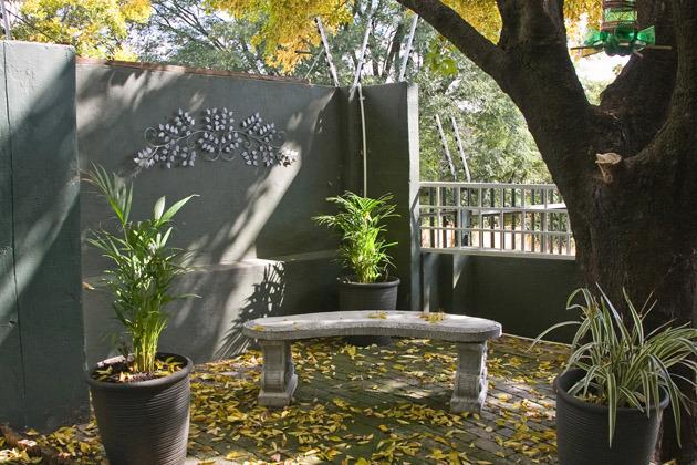outside area - Self catering accommodation in Sandton - Sandton - rentals