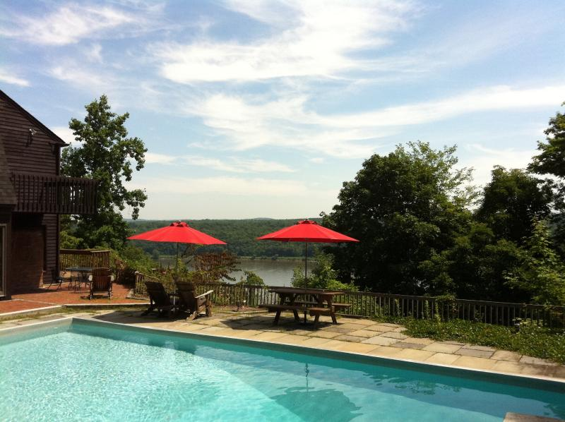 Summer by the Pool - Spectacular Hudson Riverfront House, Pool, Views - Highland - rentals