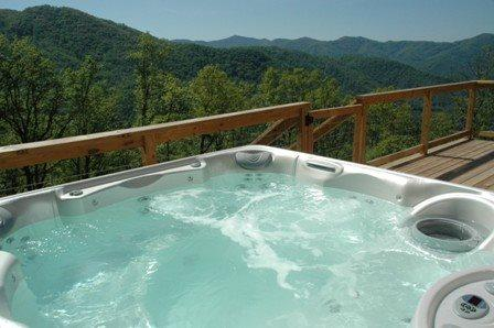 Wengen Chalet - Spectacular Views, Outdoor Hot Tub, Firepit and Screened Porch. Cozy Mountainside Cabin has Game Room and Internet. - Image 1 - Bryson City - rentals