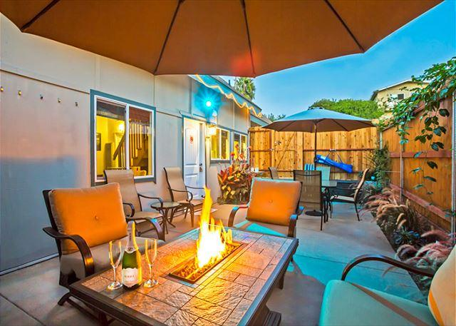 You are sure to enjoy the private outdoor patio with fire table, BBQ, and dining area. - Beach House w/ Great Amenities, Outdoor Living, Walking Distance to Beach - La Jolla - rentals