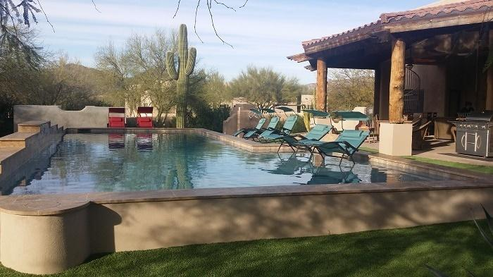 Large heated resort style pool with room for everyone & a large baby pool - ESTATE-HEATED RESORT STYLE POOL-2 SPAS - SLEEPS 19 - Scottsdale - rentals