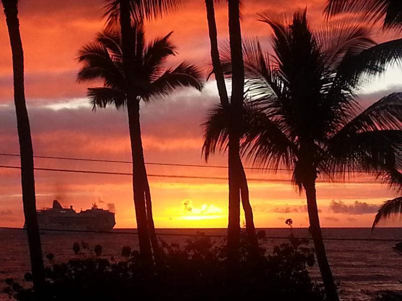 Ocean View from our Studio Condo Lanai WATCH SUNSETS INTO OCEAN! - $50 NIGHT!!!!      NOV & DEC 2015 SALE ! - Kailua-Kona - rentals