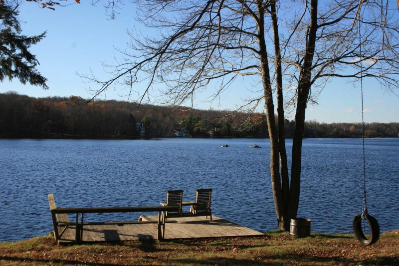 Private Dock on Arrowhead Lake - Cozy LAKEFRONT SKI Charmer in Arrowhead Lakes - Pocono Lake - rentals